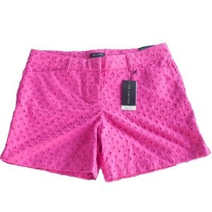 NWT The Limited Size 14 Pink Eyelet Shorts